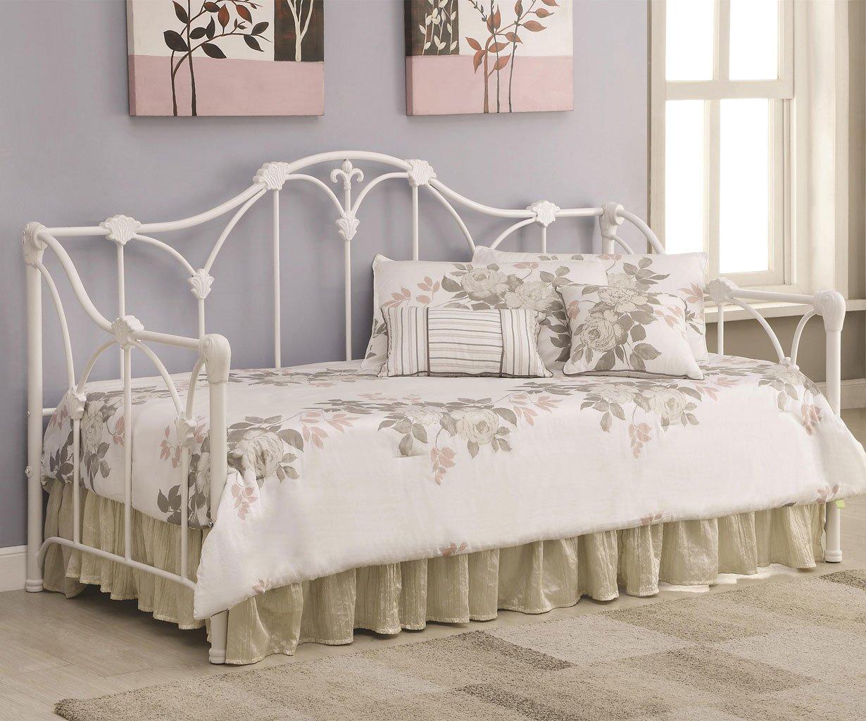 White Metal Daybed  Bedroom Furniture  Bedroom