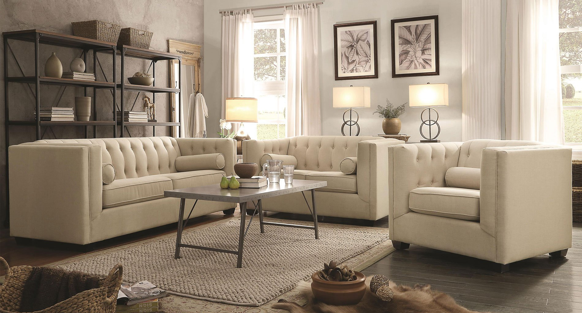 small sleeper sofa sectionals washing suede covers cairns living room set (oatmeal) - sets ...