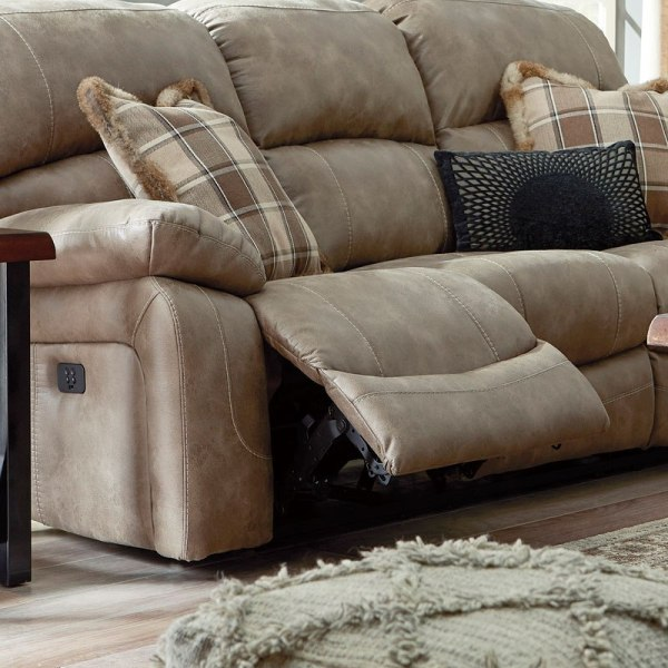 Dunwell Driftwood Power Reclining Sofa With Adjustable