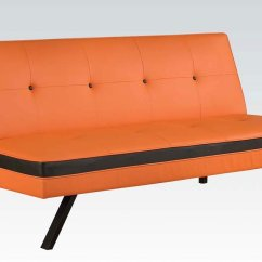 Orange And Black Sofa Bed Fabric Kid Friendly Penly By Acme Furniture Furniturepick