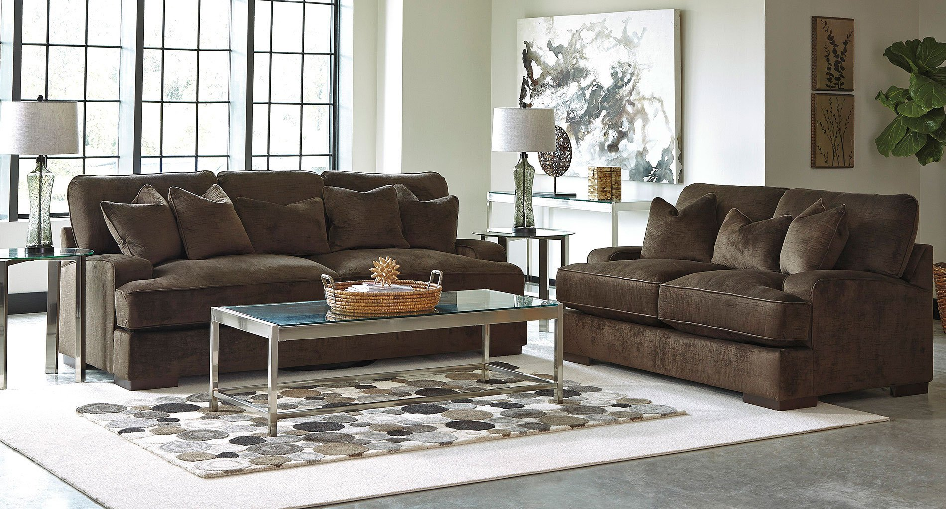 Bisenti Chocolate Living Room Set  Living Room Sets