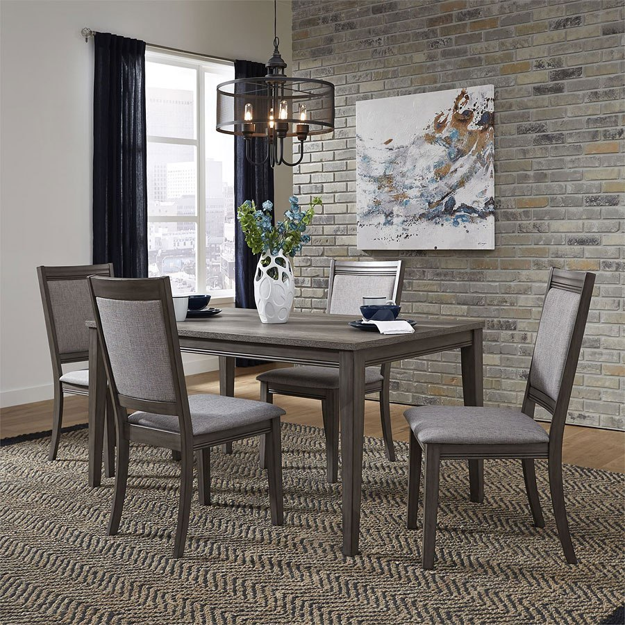 Dining Room Upholstered Chairs Tanners Creek Rectangular Dining Set W Upholstered Chairs