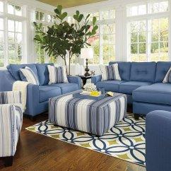 Blue Living Room Sets Decorating A With Navy Furniture Aldie Nuvella Set By Benchcraft Furniturepick