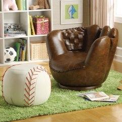 Kids Chair And Ottoman Beach Chairs Tommy Bahama Baseball Glove W By Crown Mark Furniture Furniturepick