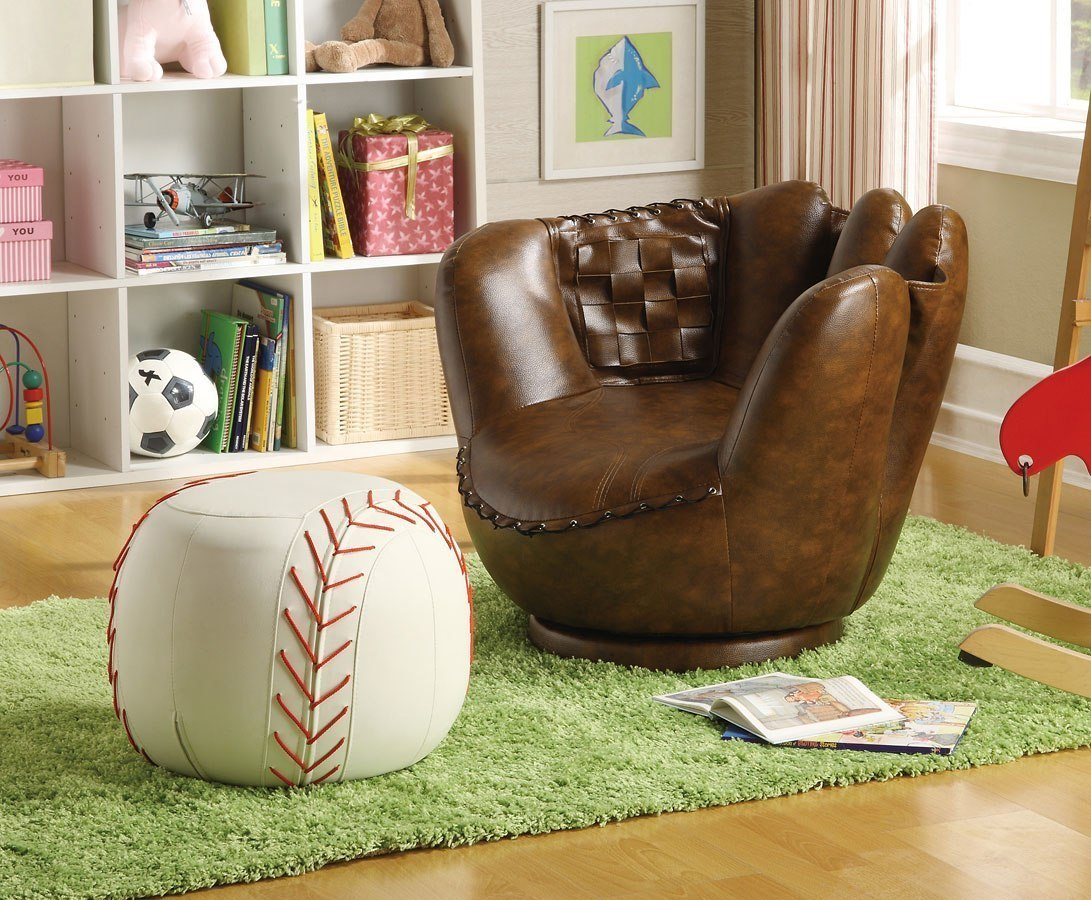 kids chair with ottoman office chairs back support reviews baseball glove w by crown mark furniture furniturepick