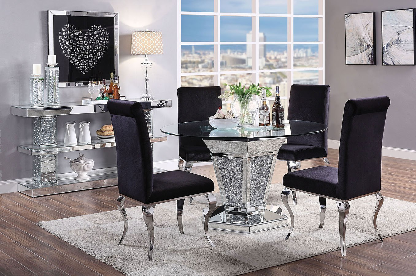 round living room set shabby chic small ideas noralie dining