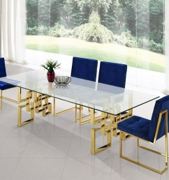 pierre dining room set w navy chairs by meridian furniture furniturepick [ 1195 x 900 Pixel ]
