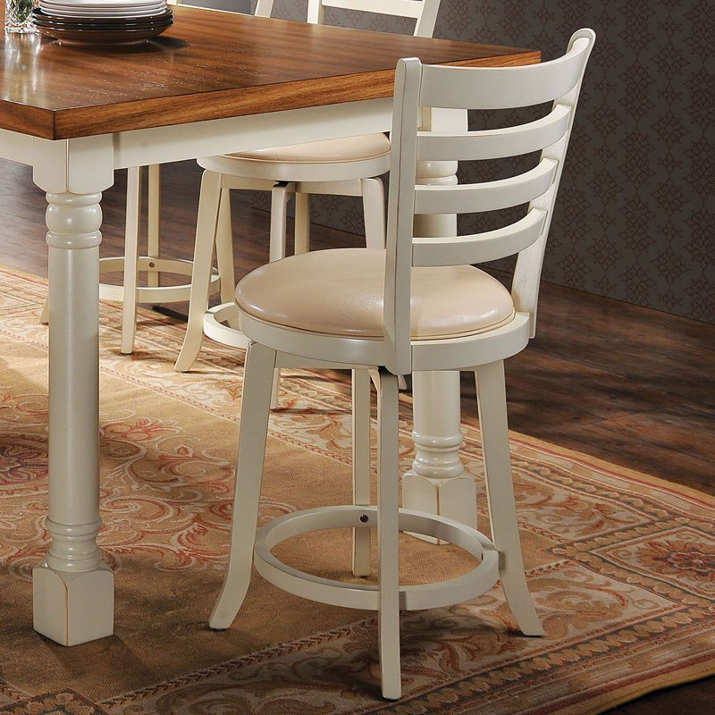 Wilton Counter Height Swivel Chair Set of 2 by Acme