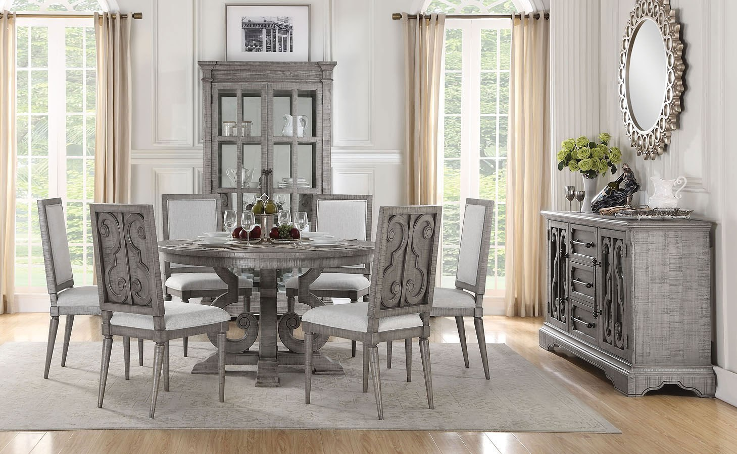 Artesia Round Dining Room Set by Acme Furniture