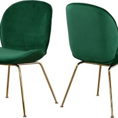 Paris Side Chair Blue Ridge Works Green Gold Set Of 2 By Meridian