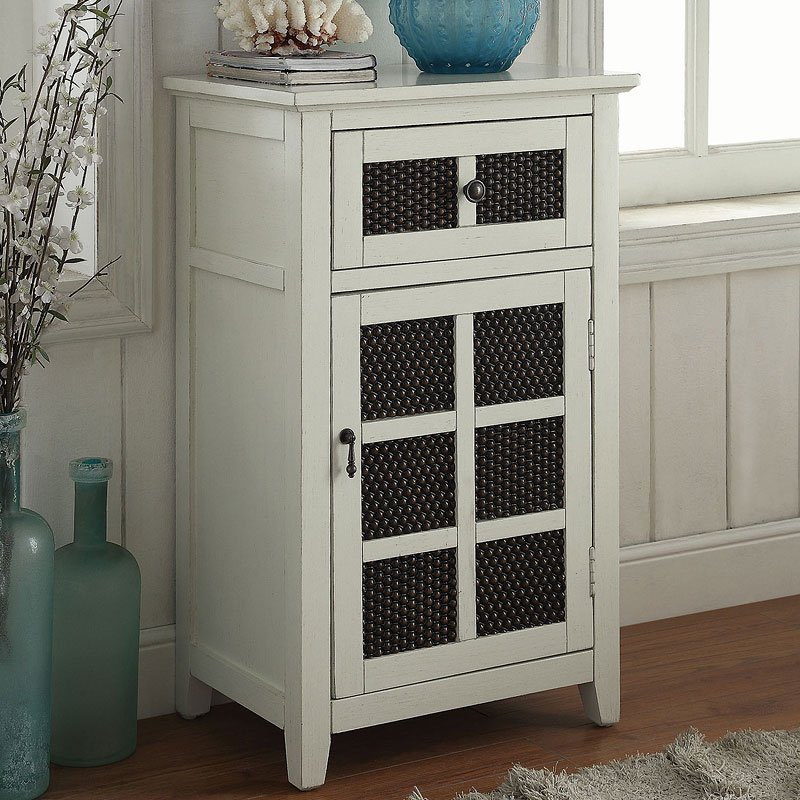 Accent Cabinet Antique White by Coaster Furniture