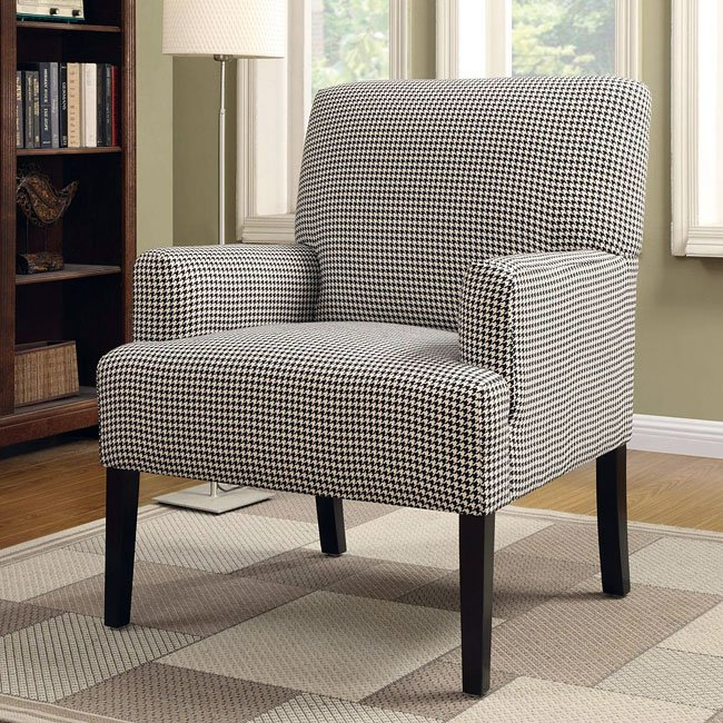 Houndstooth Patterned Accent Chair by Coaster Furniture