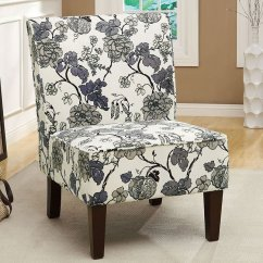 Floral Print Accent Chairs Dining Chair Feet Protectors Gray By Coaster Furniture Furniturepick