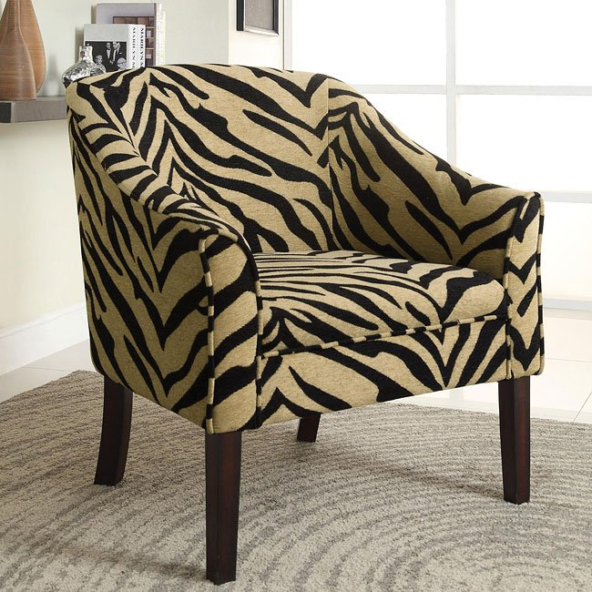 Tiger Print Accent Chair  Accent Chairs  Living Room
