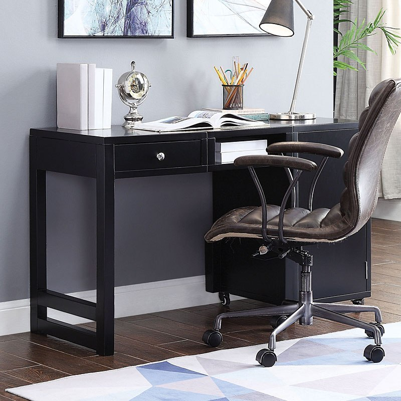 Kaniel Convertible Desk Black by Acme Furniture