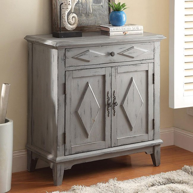 Distressed Blue Accent Cabinet by Coaster Furniture