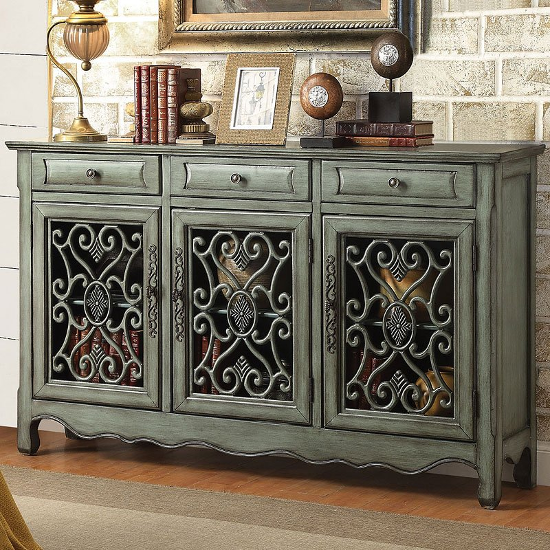 Antique Green Accent Cabinet  Accent Chests and Cabinets