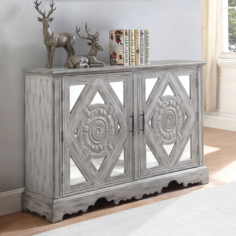 Distressed Grey Accent Cabinet by Coaster Furniture