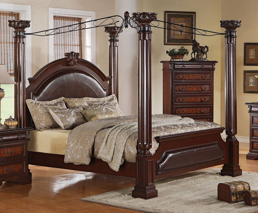 Neo Renaissance Canopy Bed By Crown Mark Furniture