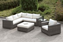 Somani Outdoor L-shaped Sectional Set Configuration 10
