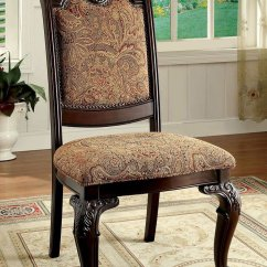 Fabric Side Chairs Director Chair Replacement Covers Bellagio Dining Room Set W By Furniture Of America 2