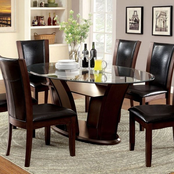 Manhattan Oval Dining Table Furniture Of America