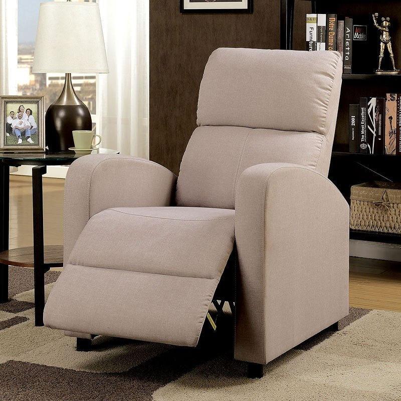 push back chair french print accent athanas by furniture of america furniturepick