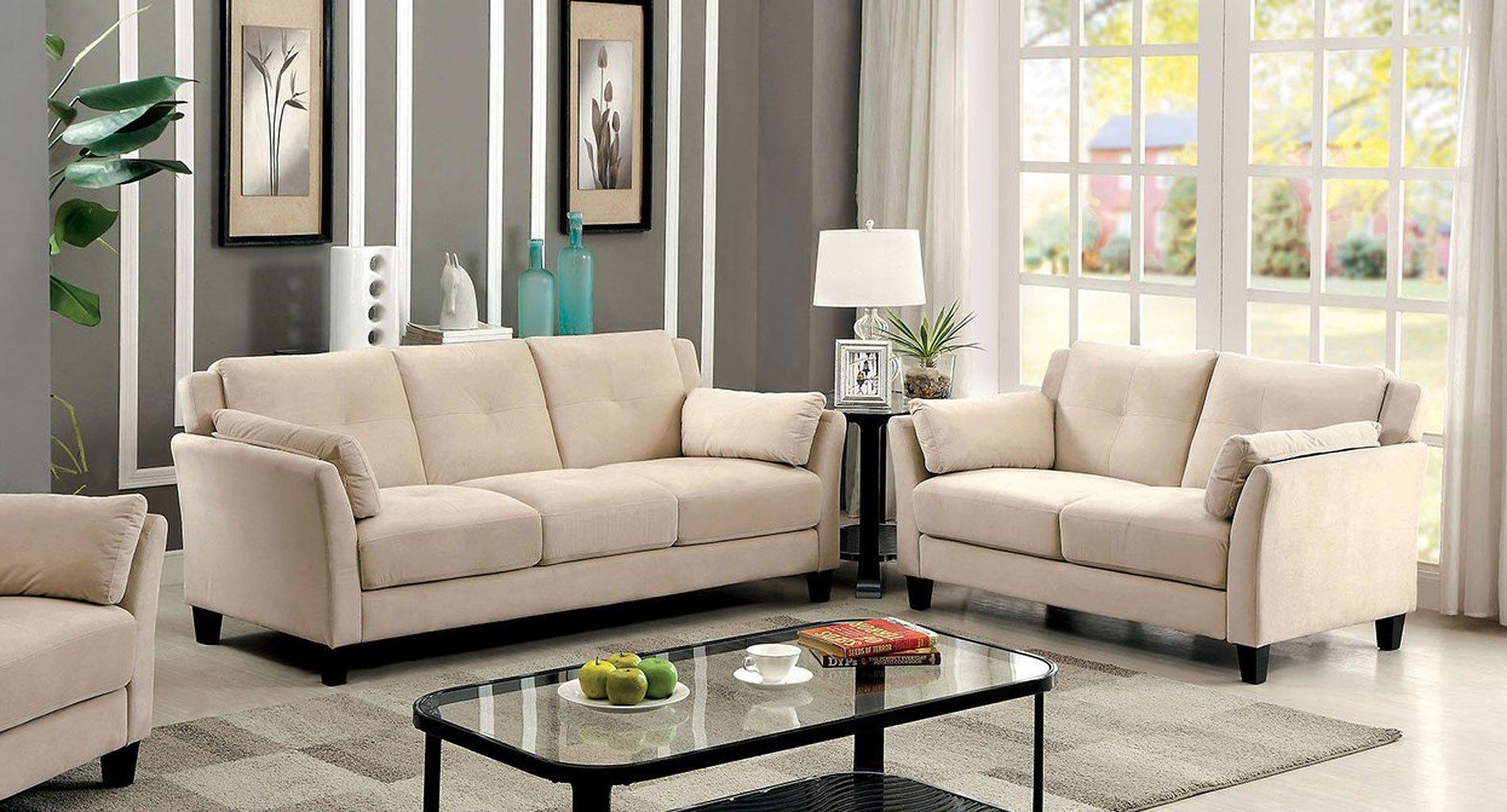 Ysabel Living Room Set Beige  Living Room Sets  Living
