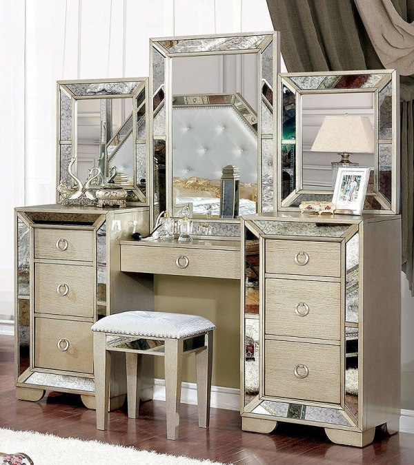 Loraine Vanity Set Furniture Of America Furniturepick
