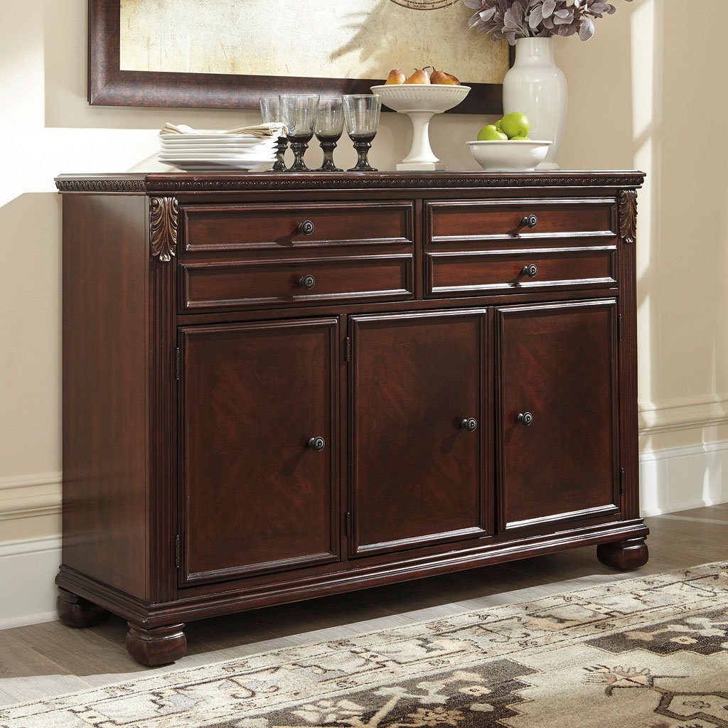 kitchen table sets for sale best value cabinets leahlyn reddish brown buffet - buffets, sideboards and ...