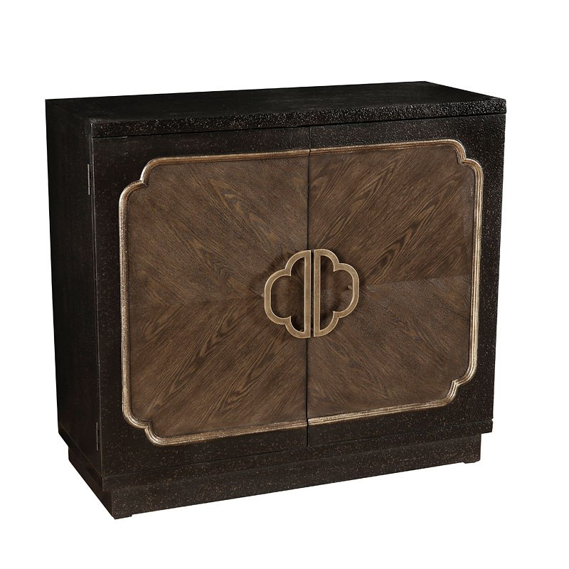 Chocolate Heavily Distressed Accent Cabinet by Pulaski