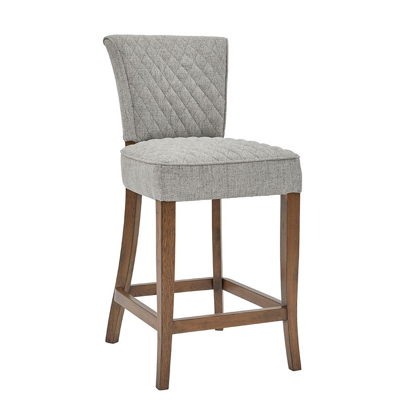Modern Authentic Quilted Counter Stool Linen  Dining