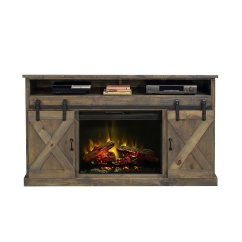 Home Entertainment Fireplace Living Room Furniture Side Table Decoration Ideas Farmhouse 66 Inch Console (barnwood) - Tv Stands ...