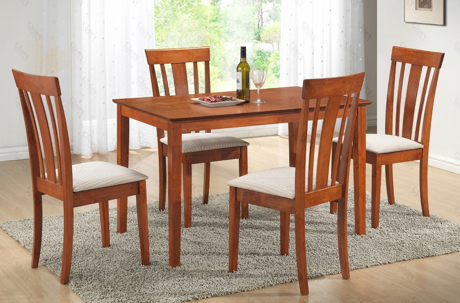 maple dining room chairs evenflo compact high chair g0030 set w g0050 by glory