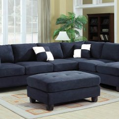 Chairs At Rooms To Go Garden Chair Covers B&q G630 Reversible Sectional Set Navy Blue Living Room