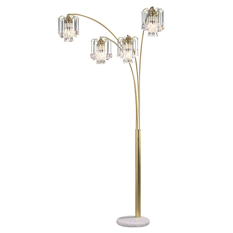 Elouise Arch Lamp (Sand Gold) by Furniture of America