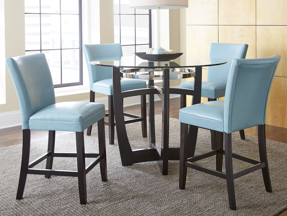 Aqua Dining Chairs Matinee Counter Height Dining Set W Aqua Chairs