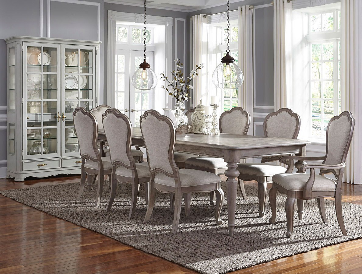 Dining Room Upholstered Chairs Simply Charming Dining Room Set W Upholstered Chairs