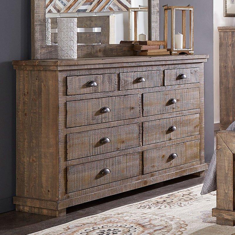 Willow Dresser Weathered Grey  Dressers  Bedroom