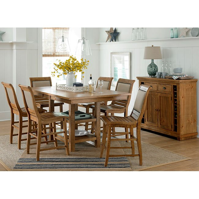 distressed kitchen chairs pendant lighting over island willow rectangular counter dining set w uph pine