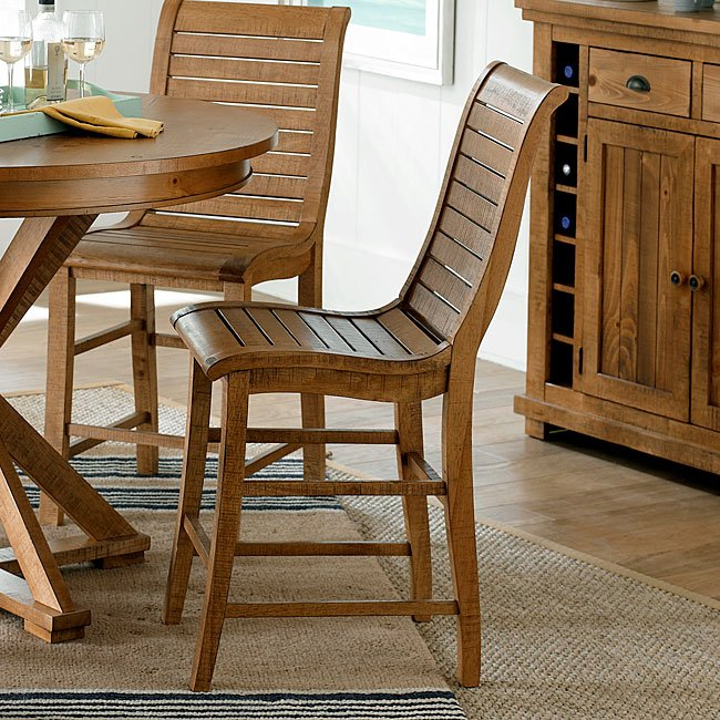 distressed kitchen chairs blue island willow counter height chair set of 2 pine dining