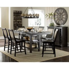 Distressed Black Dining Chairs Plywood Lounge Chair And Ottoman Willow Rectangular Counter Set W Uph Room Kitchen Furniture