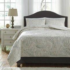 Foam Sofa Sleeper Rv Beds Australia Darcila Sage Green/cream Coverlet Set - Bedding Sets ...