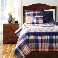 Milam Plaid Youth Bedding Set - Kids and Youth Furniture ...