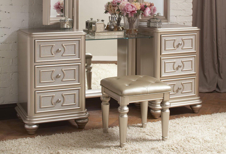 Dynasty Vanity W/ Stool By Samuel Lawrence Furniture