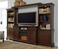 Porter Extra Large Entertainment Wall w/ Fireplace ...