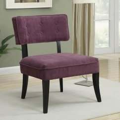 Purple Accent Chair Sit Stand Amazon W Button Tufted Back By Coaster Furniture
