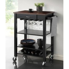 Cherry Kitchen Cart Cabinet Doors With Glass Fronts Black And By Coaster Furniture Furniturepick