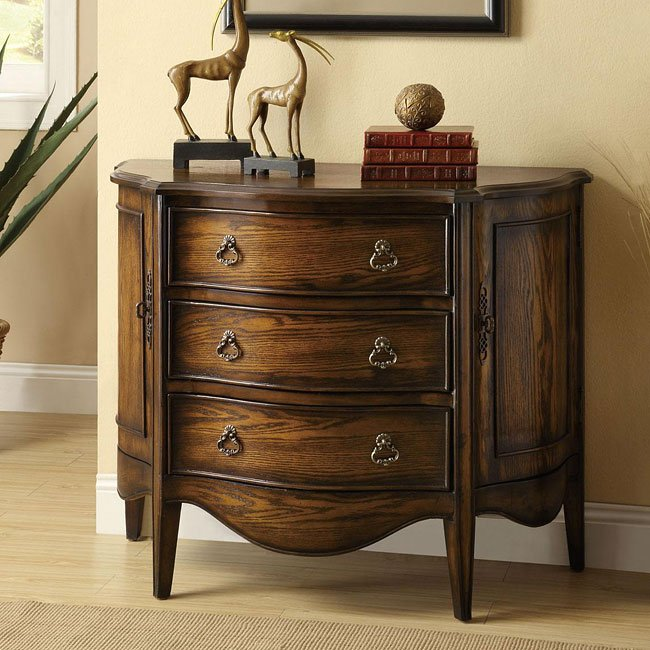 Distressed Finish Accent Cabinet by Coaster Furniture