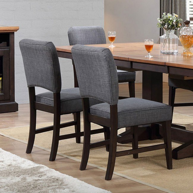black parsons chair staples skate oak side set of 2 dining room and kitchen